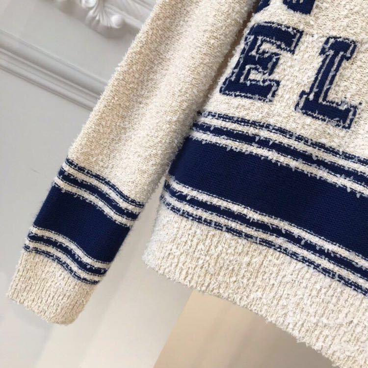 Chanel シャネル 長袖セーター ニット 36/Mサイズ相当 イタリア製_画像4