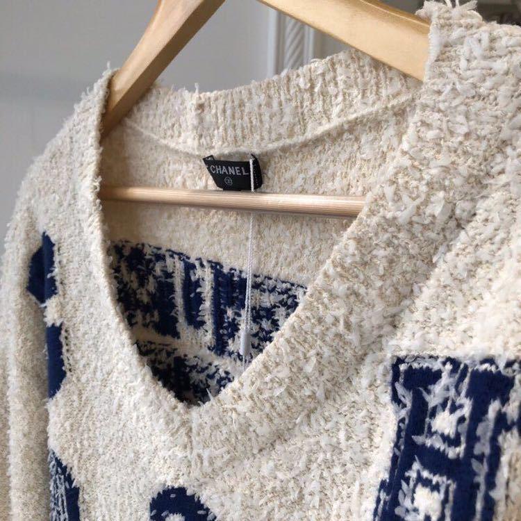 Chanel シャネル 長袖セーター ニット 36/Mサイズ相当 イタリア製_画像6