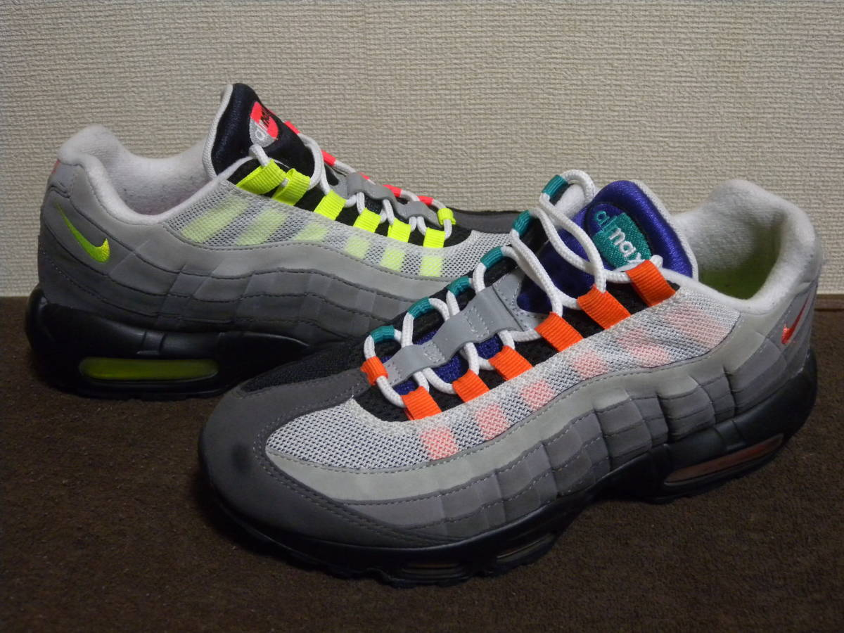"●超プレミア品!NIKE AIR MAX 95 OG QS : ""GREEDY"" BLACK/VOLT-SAFETY ORANGE 810374-078 ナイキエアマックス95 size,8 26cm"
