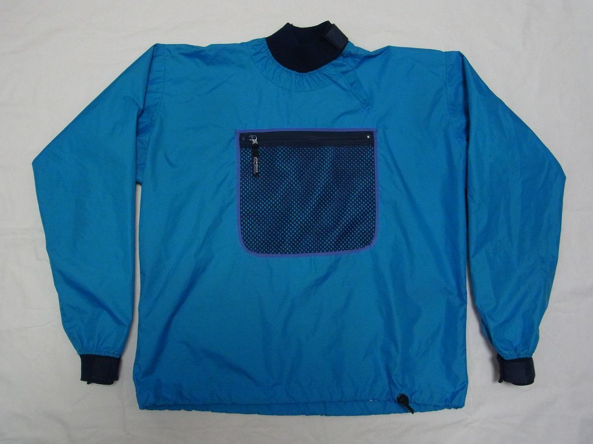 ☆ 90s Patagonia パタゴニア パドリング ジャケット sizeL サックスブルー ☆USA古着 カヤック カヌー プルオーバー ビンテージ OLD 80s