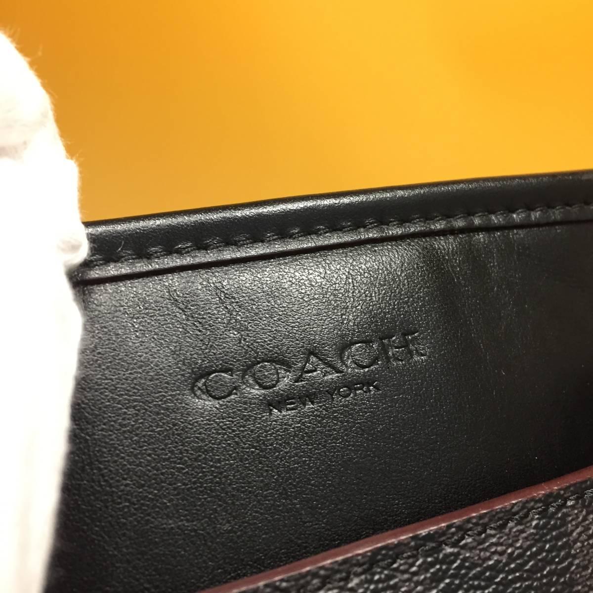 超美品◆COACH◆コーチ メンズ シャドーシグネチャーPVC×レザー トートバッグ 2way◆黒_画像10