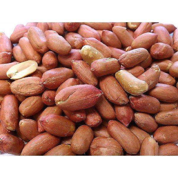 職人が手むきした 渋皮付き 煎りピーナッツ 4kg(500gx8袋) チャック袋 九州工場製造品 黒田屋_画像1