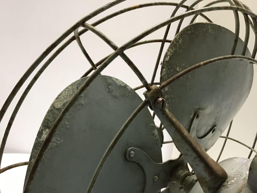 ●昭和レトロ● 三菱 鉄羽根 3枚羽根 扇風機 羽根径30cm MITSUBISHI アンティーク 古民家 古い_画像9