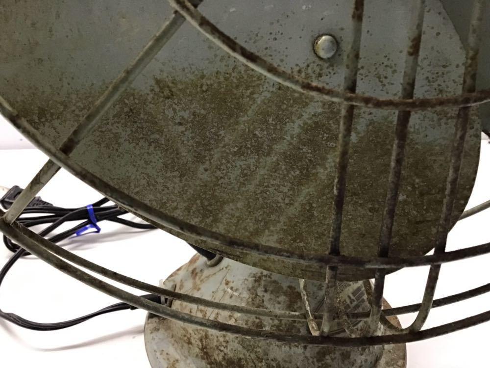 ●昭和レトロ● 三菱 鉄羽根 3枚羽根 扇風機 羽根径30cm MITSUBISHI アンティーク 古民家 古い_画像8