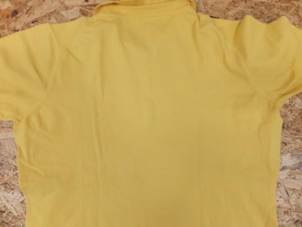 〈送料280円〉le coq sportif GOLF COLLECTION ルコック ゴルフ レディース ロゴ刺繍 ナイロン・ポリウレタン混 半袖ポロシャツ 黄色_画像3