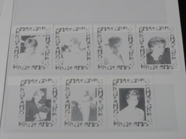 19 S プリンセス ダイアナ妃 追憶記念 フランス領 ベニン切手 1998年 9種完 未使用+印刷カラープルーフ 36種 写真7枚目オマケ_画像7