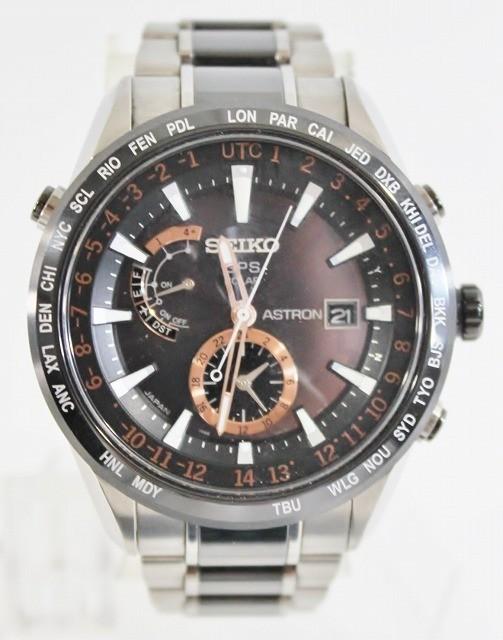 SEIKO/セイコー 腕時計 SBXA017 7X52-0AF0 アストロン 電波 ソーラー GPS チタン セラミック ブライト メンズ 美品 ビジネス 人気_画像1