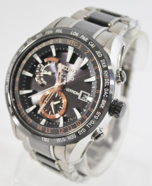 SEIKO/セイコー 腕時計 SBXA017 7X52-0AF0 アストロン 電波 ソーラー GPS チタン セラミック ブライト メンズ 美品 ビジネス 人気_画像3