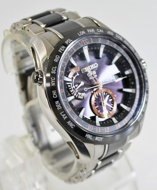 SEIKO/セイコー 腕時計 SBXA017 7X52-0AF0 アストロン 電波 ソーラー GPS チタン セラミック ブライト メンズ 美品 ビジネス 人気_画像2