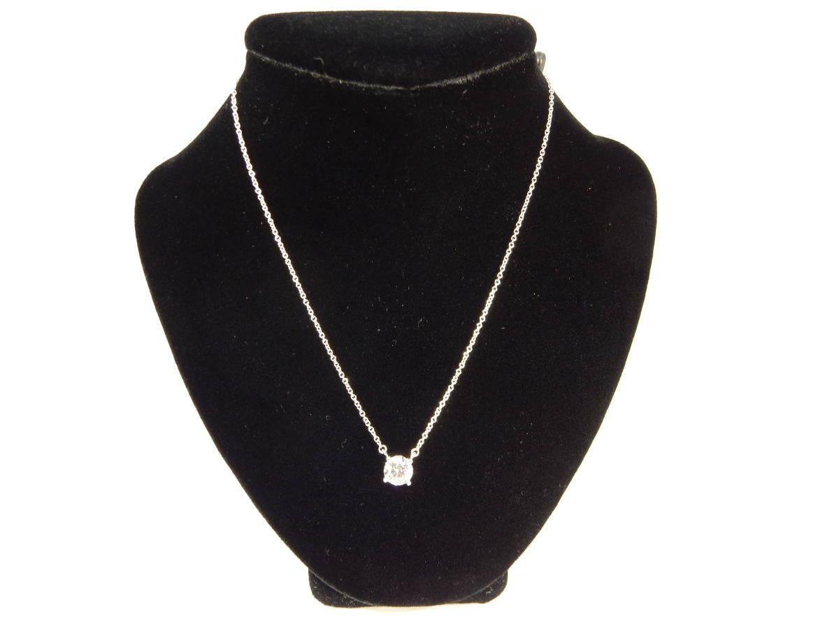 ☆ ティファニー TIFFANY ソリティア PT950 D0.731 ダイヤモンド 長さ約40.5cm 約2.9g位 ネックレス 仕上済 ☆