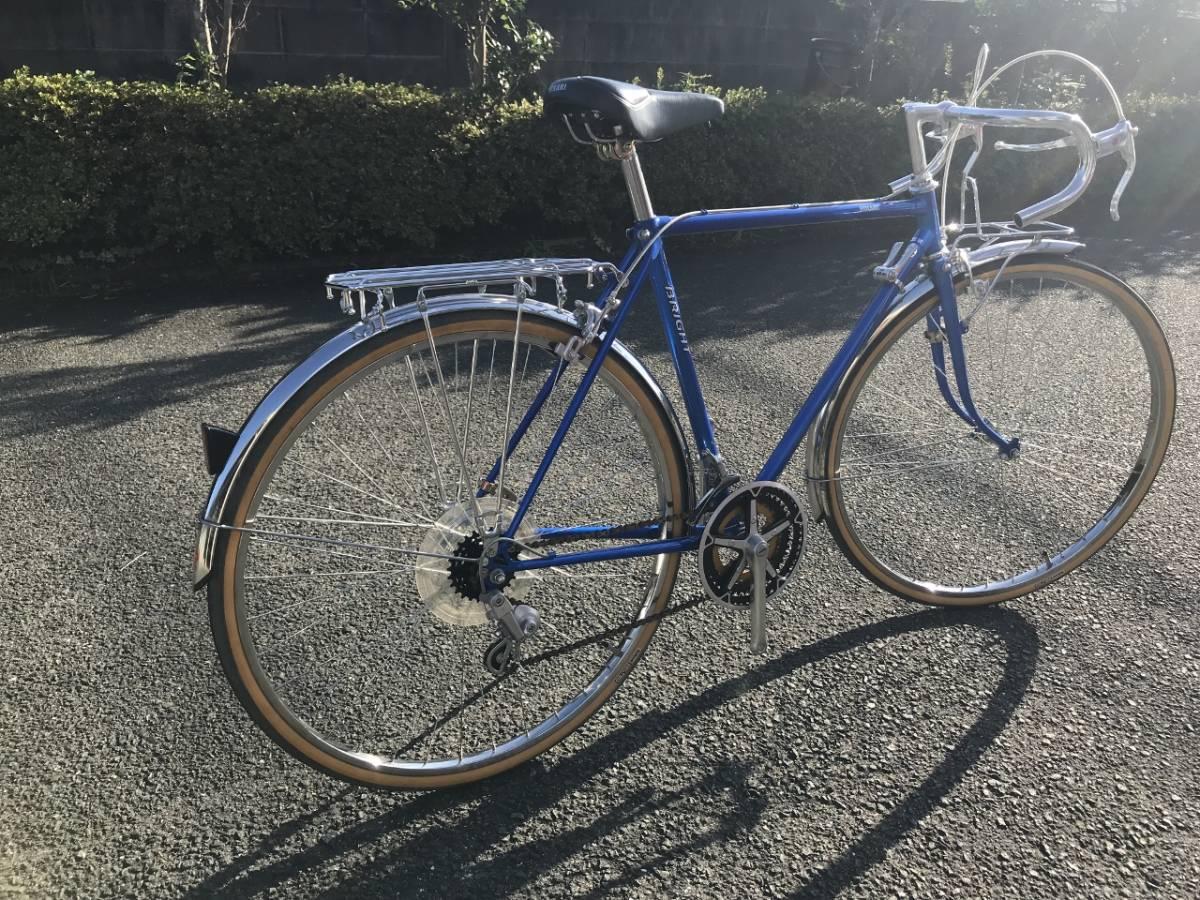 昭和レトロ☆光自転車 ブライト27 奇跡の未使用車 青系 27型外装18段 当時物 HIKARI ビンテージロード_画像3