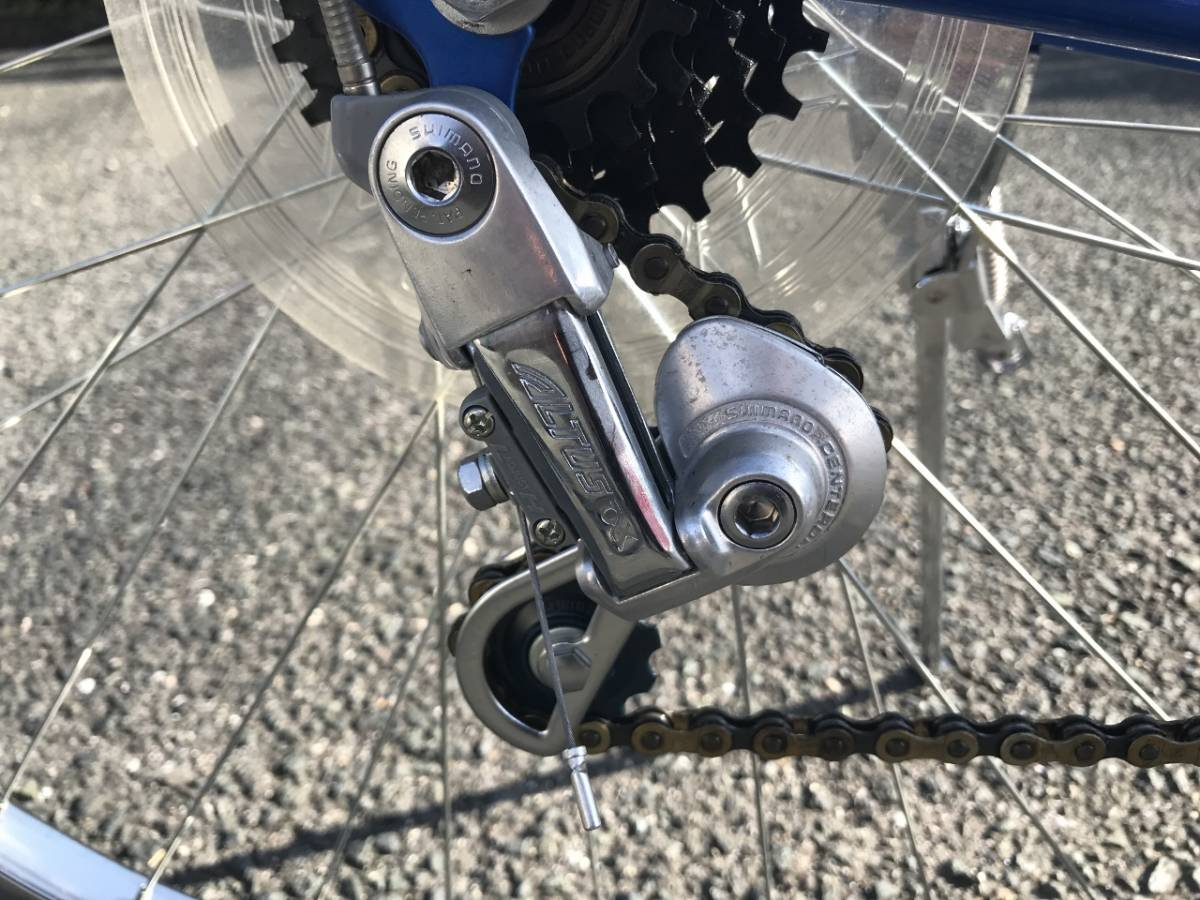 昭和レトロ☆光自転車 ブライト27 奇跡の未使用車 青系 27型外装18段 当時物 HIKARI ビンテージロード_画像10