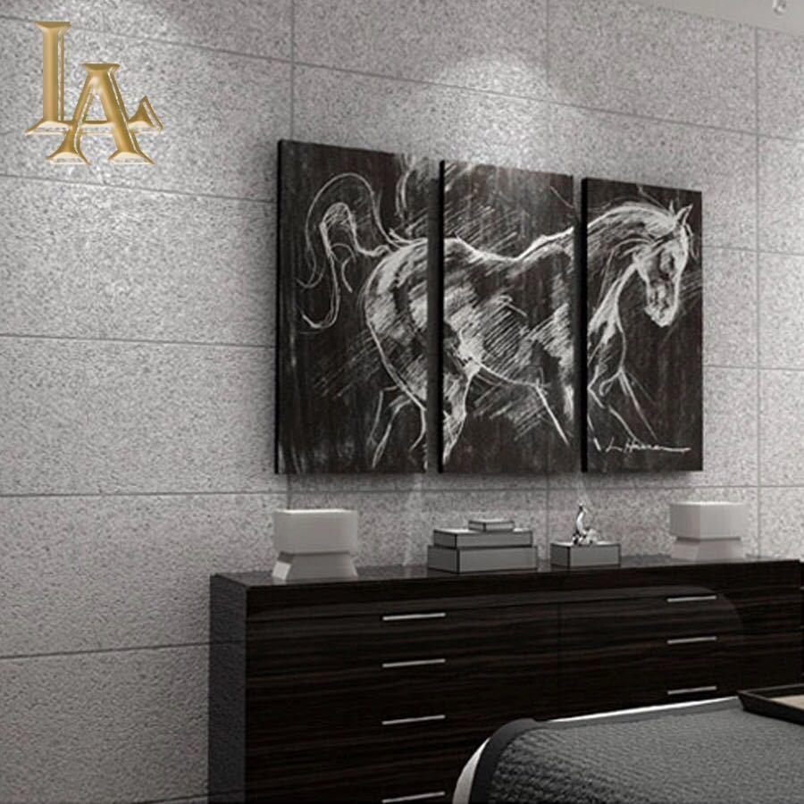現代のシンプルな3d模造大理石タイル格子壁紙ベッドルーム、リビングルームテレビの背景群がっ不織布壁紙ピンクストライプウォールペーパー_画像4