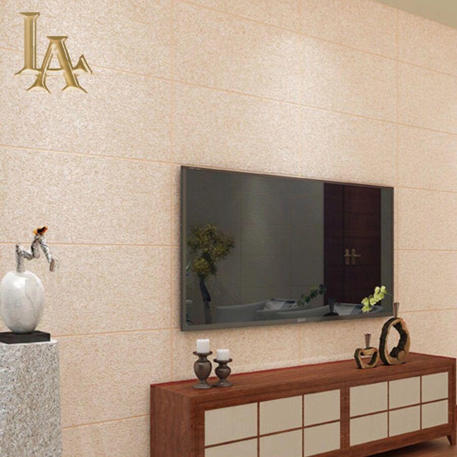 現代のシンプルな3d模造大理石タイル格子壁紙ベッドルーム、リビングルームテレビの背景群がっ不織布壁紙ピンクストライプウォールペーパー_画像5
