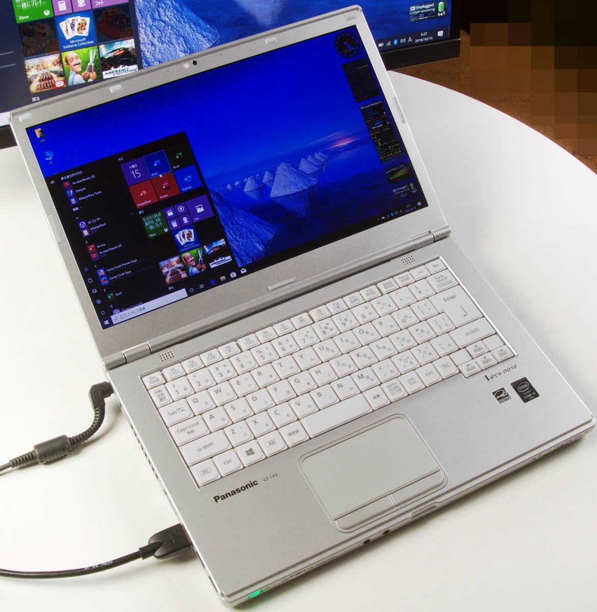 Let'sNote CF-LX4 Corei5(5300U) Mem8GB 新SSD480GB Webカメラ+無線LAN Win10Pro64bit Ver.1903 バッテリー良好_画像1
