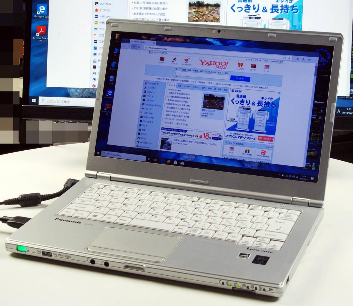 Let'sNote CF-LX4 Corei5(5300U) Mem8GB 新SSD480GB Webカメラ+無線LAN Win10Pro64bit Ver.1903 バッテリー良好_画像2