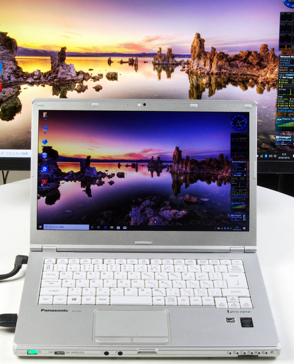 Let'sNote CF-LX4 Corei5(5300U) Mem8GB 新SSD480GB Webカメラ+無線LAN Win10Pro64bit Ver.1903 バッテリー良好_画像3