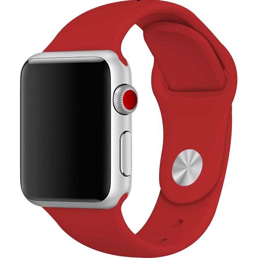 素材厳選 【本体サイズ38・40mm用】【19-レッド】Apple Watch シリコンバンド アップルウォッチ【Series1.2.3.4.5対応】