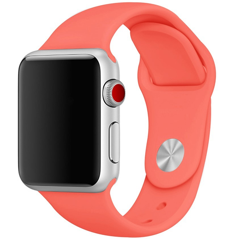 素材厳選 【本体サイズ38・40mm用】【26-アプリコットオレンジ】Apple Watch シリコンバンド アップルウォッチ【Series1.2.3.4.5対応】
