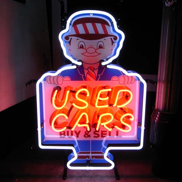 ネオンサイン【USED CAR】 中古車 車屋/看板 ネオン ネオン管 BAR バー 店舗/アメリカン雑貨 世田谷ベース ヴィンテージ ガレージ_画像1