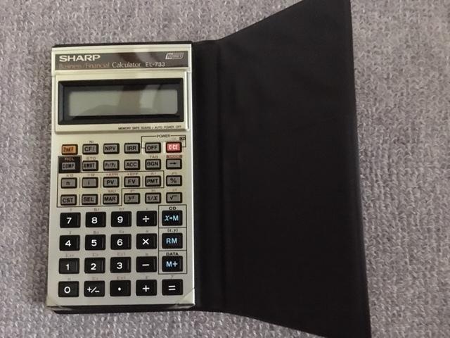 ビジネス・ファイナンス用電卓 シャープEL-733 中古良品!!