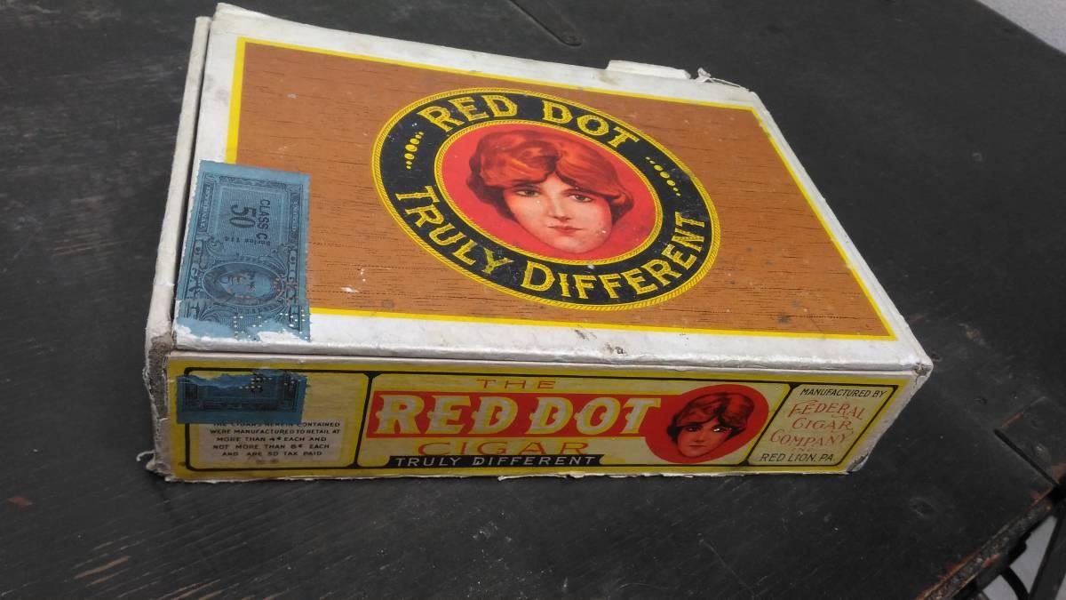アメリカ 葉巻 シガー ボックス RED DOT ヴィンテージ 1950s_画像1