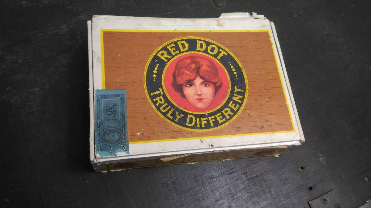 アメリカ 葉巻 シガー ボックス RED DOT ヴィンテージ 1950s_画像2