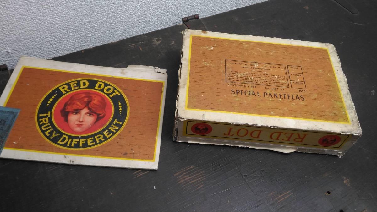アメリカ 葉巻 シガー ボックス RED DOT ヴィンテージ 1950s_画像4