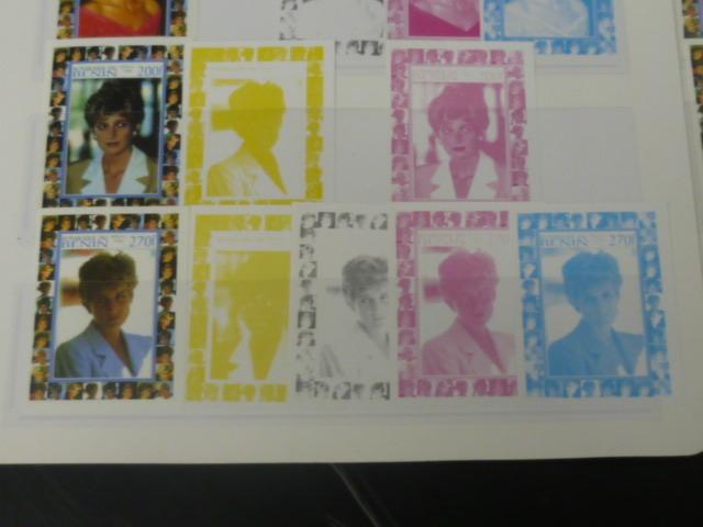 19 P №2 プリンセス ダイアナ妃 追憶記念 フランス領 ベニン切手 1998年 9種完 未使用+印刷カラープルーフ 32種_画像3