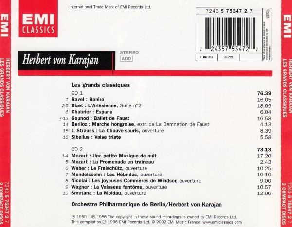 カラヤン&ベルリンフィル/管弦楽名曲集(二枚組)_画像2