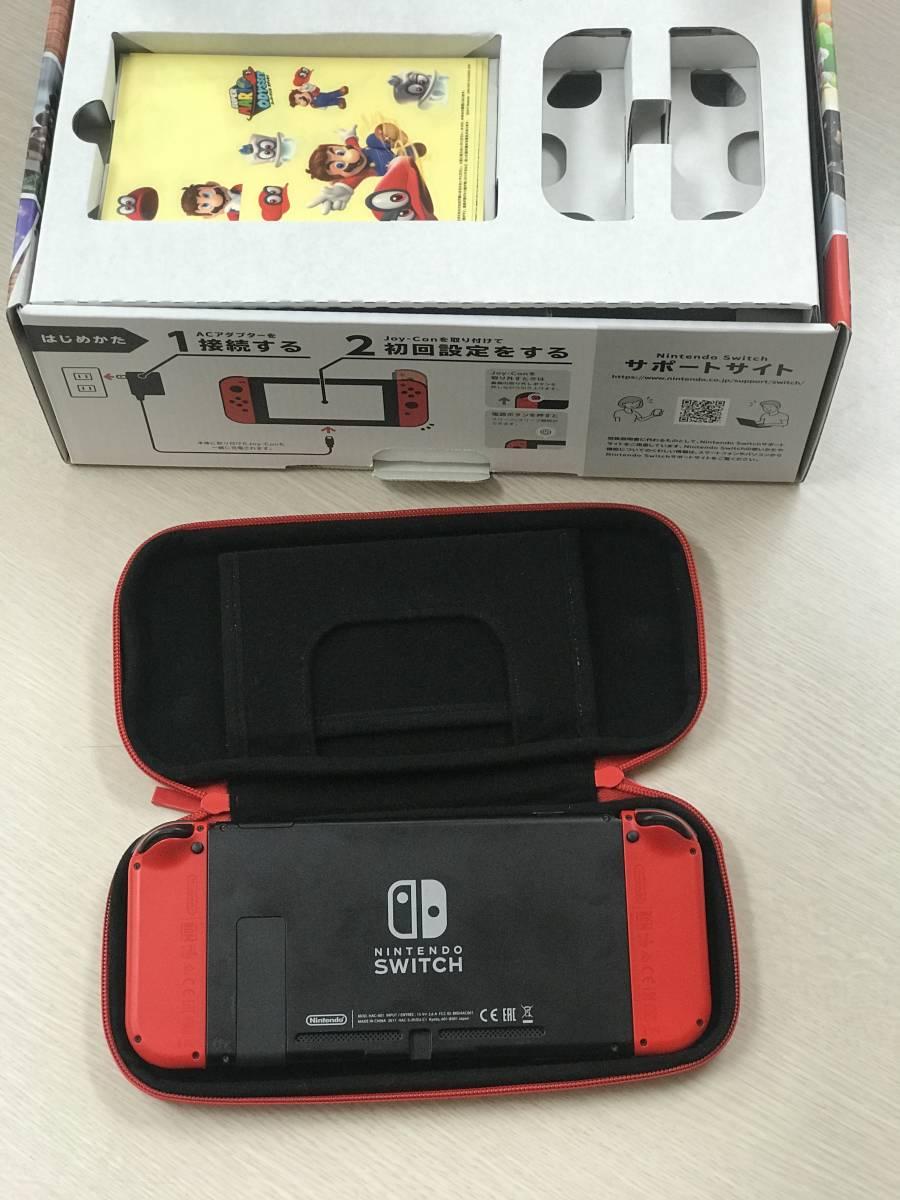 中古美品 Nintendo Switch スイッチ 本体 スーパーマリオ オデッセイセット (ソフト欠品) 中古美品 おまけ付け_画像3