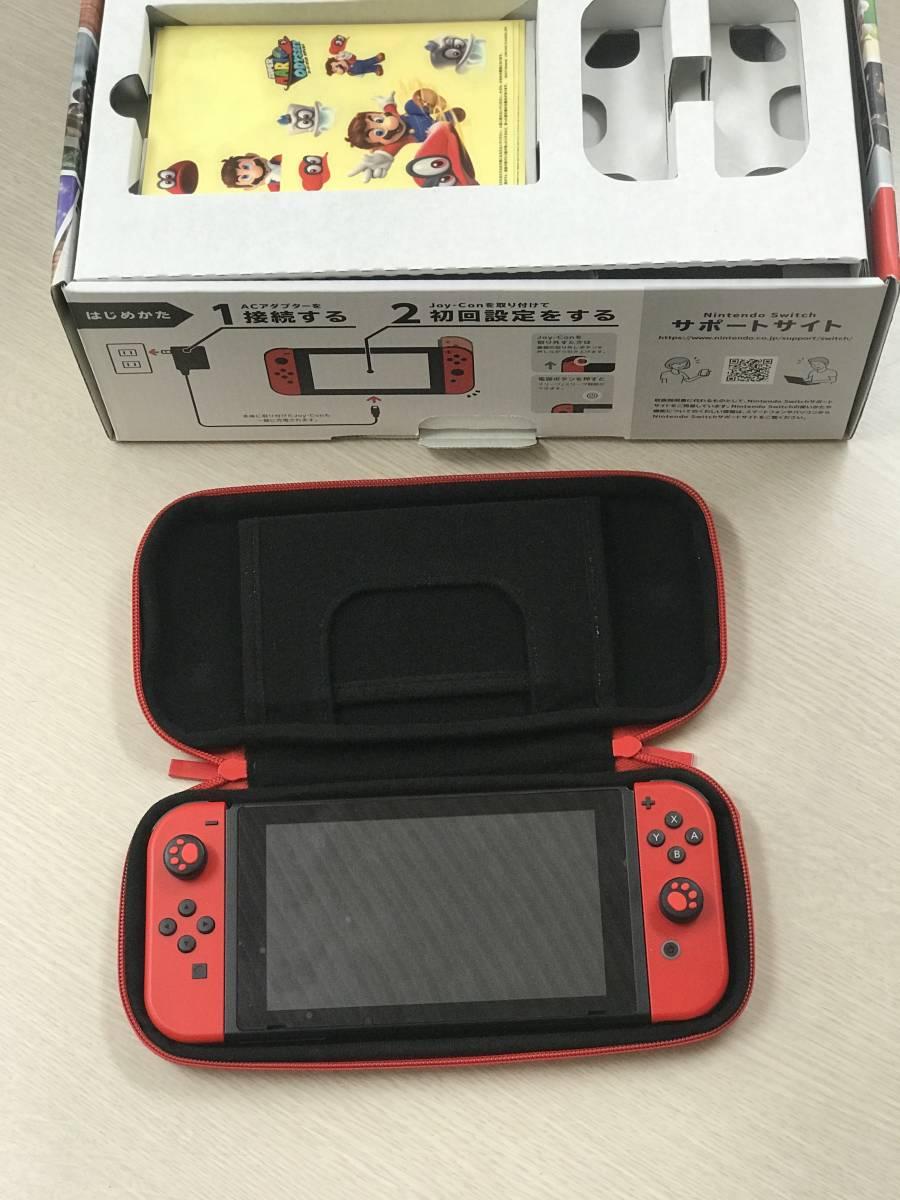 中古美品 Nintendo Switch スイッチ 本体 スーパーマリオ オデッセイセット (ソフト欠品) 中古美品 おまけ付け_画像2