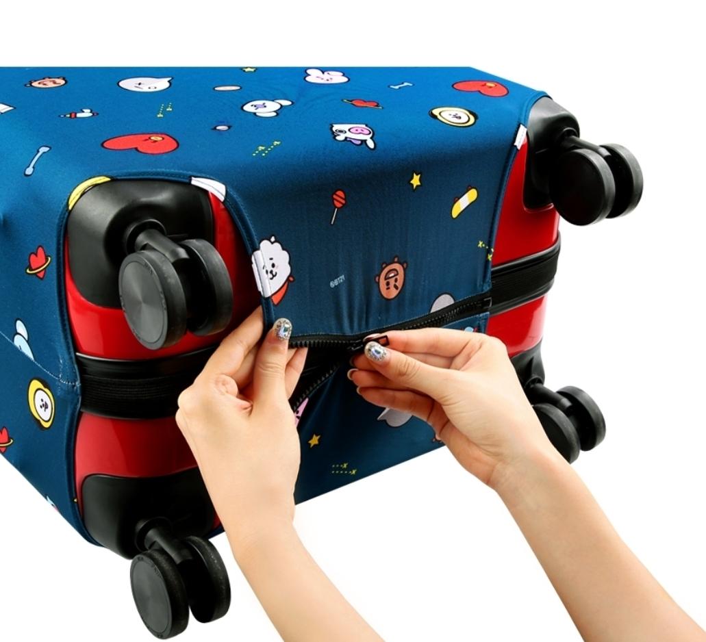 BT21公式 スーツケースカバー TATA CHIMMY COOKY RJ MANG SHOOKY KOYAキャリー テヒョン ジミン ジョングク ジン ホソク ユンギ ナムジュン_画像6