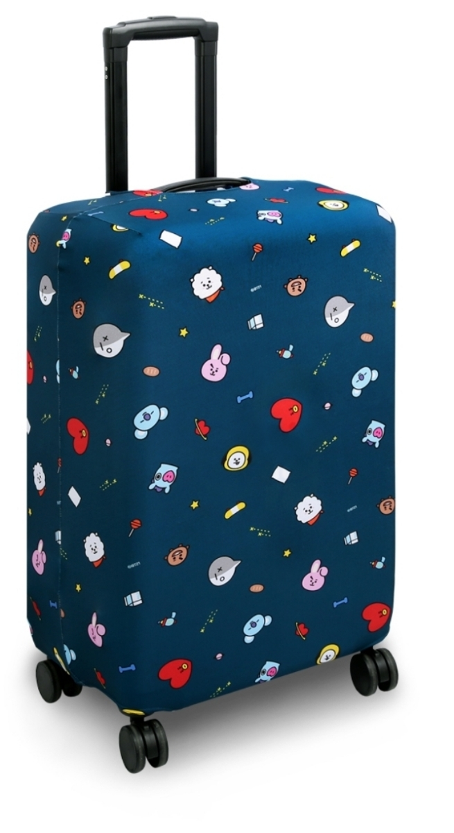 BT21公式 スーツケースカバー TATA CHIMMY COOKY RJ MANG SHOOKY KOYAキャリー テヒョン ジミン ジョングク ジン ホソク ユンギ ナムジュン_画像1