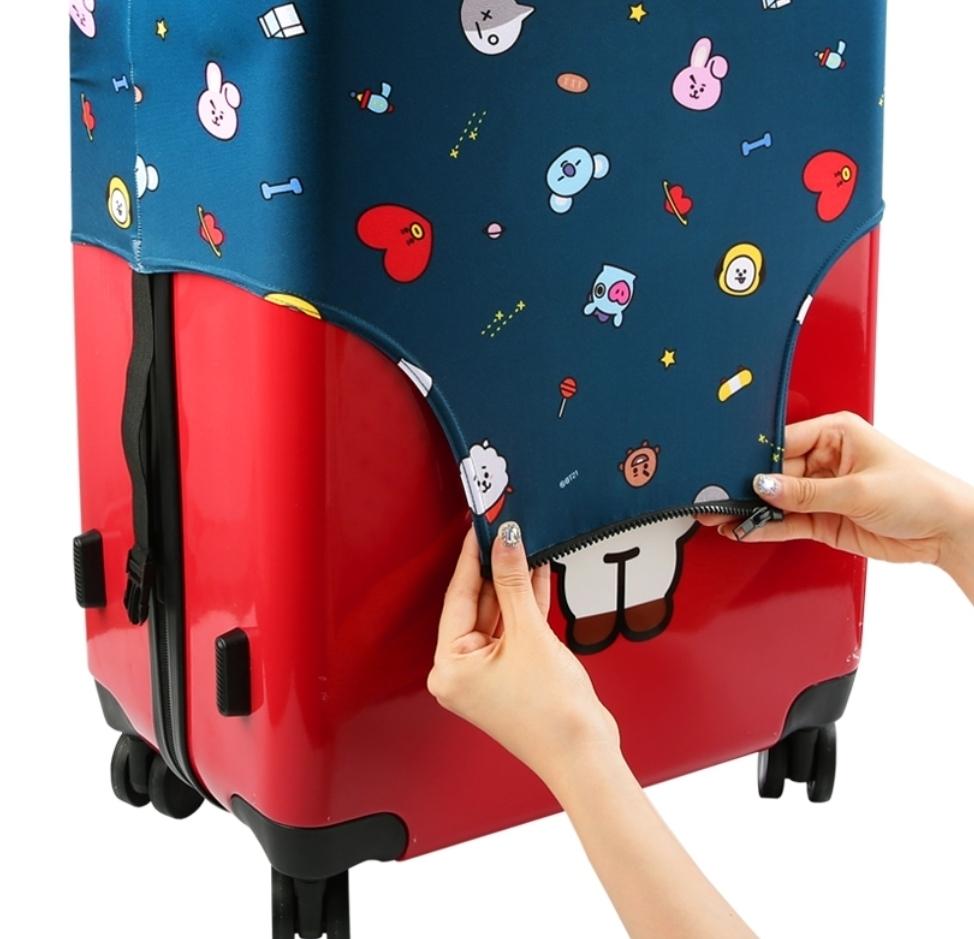 BT21公式 スーツケースカバー TATA CHIMMY COOKY RJ MANG SHOOKY KOYAキャリー テヒョン ジミン ジョングク ジン ホソク ユンギ ナムジュン_画像4