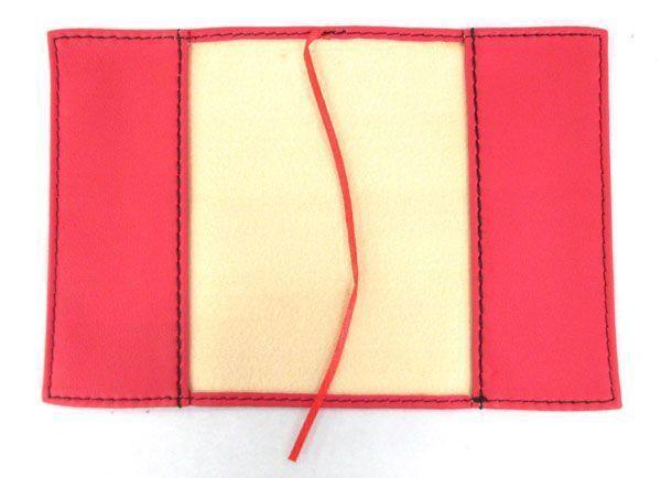 ブックカバー 黒・白・赤 フェイクレザー 文庫本サイズ3点セット_画像4