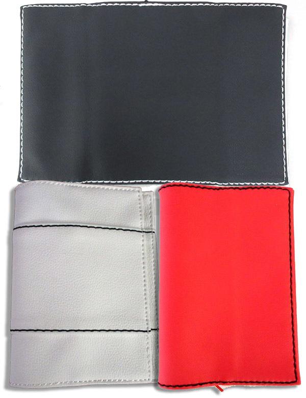 ブックカバー 黒・白・赤 フェイクレザー 文庫本サイズ3点セット_画像1