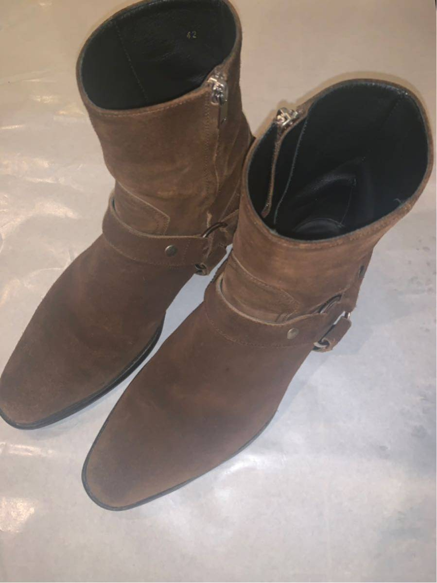 saint laurent paris WYATT ブーツ美品 42 箱付 サンローランパリワイアット