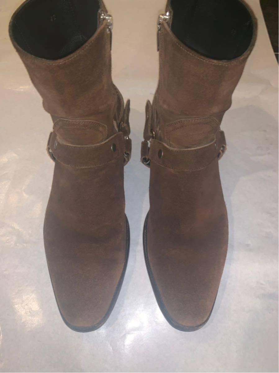 saint laurent paris WYATT ブーツ美品 42 箱付 サンローランパリワイアット_画像6