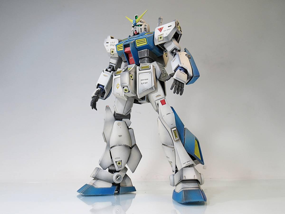 【MG 1/100 Ver2.0 RX-78NT-1 ガンダム NT-1 アレックス 戦場風 改修塗装完成品】