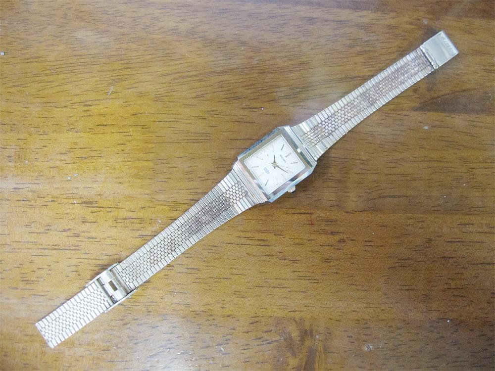 新品ストック品! CITIZEN シチズン EXCEED エクシード 超硬ケース 4-751744 アナログ3針 クォーツ 腕時計 純正ベルト付 日本製 *NW037_画像4