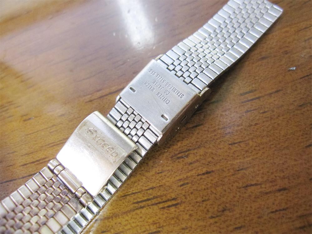 新品ストック品! CITIZEN シチズン EXCEED エクシード 超硬ケース 4-751744 アナログ3針 クォーツ 腕時計 純正ベルト付 日本製 *NW037_画像5