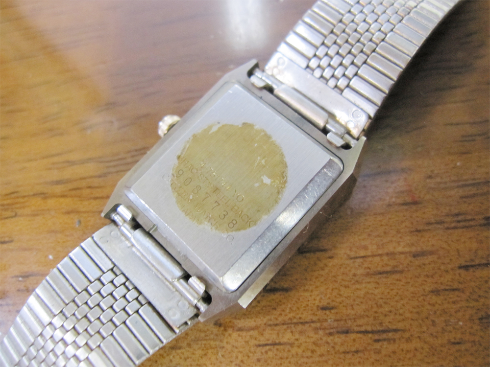 新品ストック品! CITIZEN シチズン EXCEED エクシード 超硬ケース 4-751744 アナログ3針 クォーツ 腕時計 純正ベルト付 日本製 *NW037_画像6
