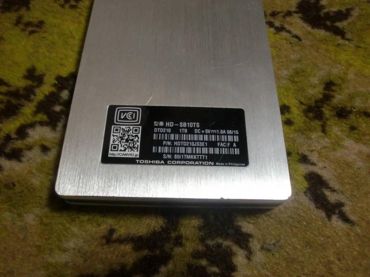 ●TOSHIBA 外付けHDD 1TB (HD-SB10TS 外付けハードディスク) ジャンク●_画像2