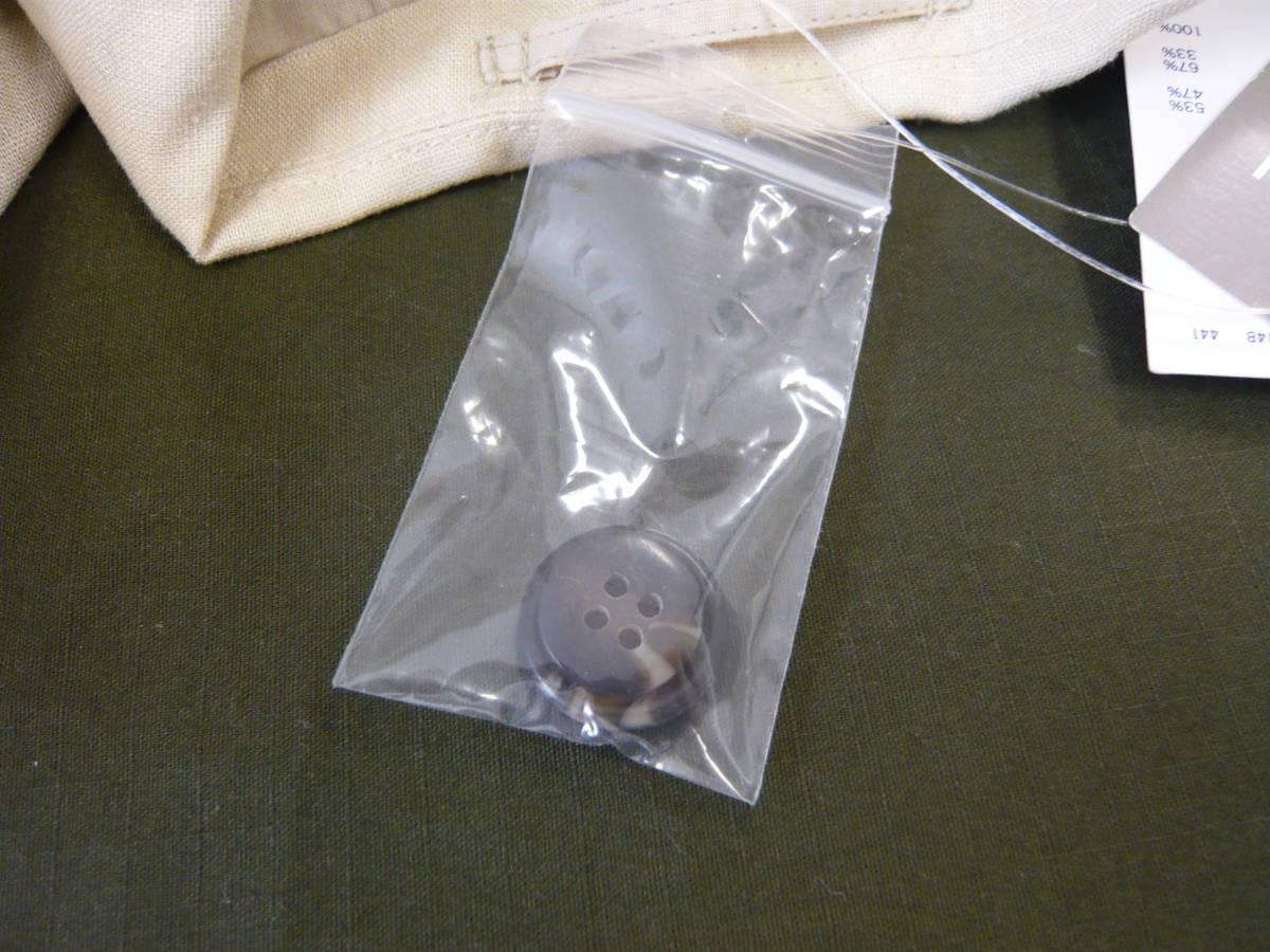 GU ジーユー リネンブレンドテーラードジャケット ベージュ Sサイズ 新品タグ、ボタン付き メンズ 01_画像6