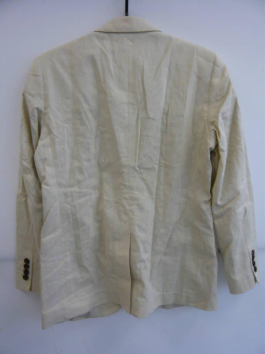 GU ジーユー リネンブレンドテーラードジャケット ベージュ Sサイズ 新品タグ、ボタン付き メンズ 01_画像2