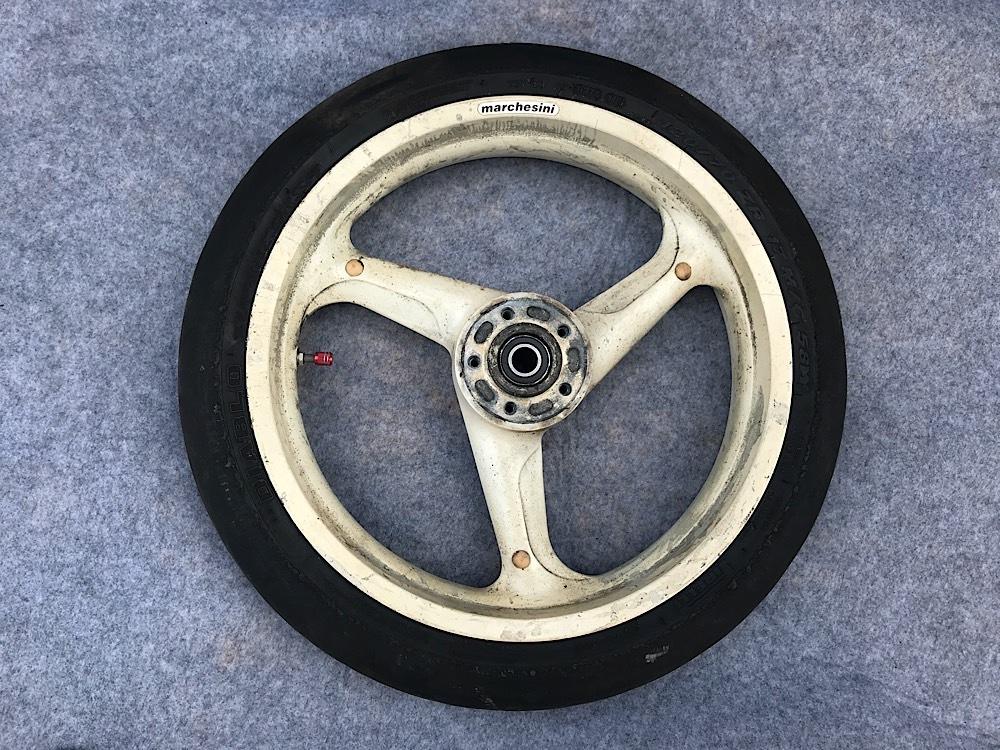 ヨシムラマルケジーニ鋳造マグ フロントホイール 3.50-17 '91~'92 GSX-R1100用 油冷 中