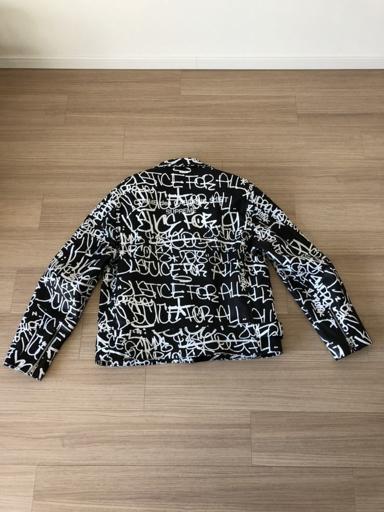 Supreme Comme des Garcons SHIRT Schott painted perfecto Leather jacket シュプリーム コムデギャルソン ショット_画像2