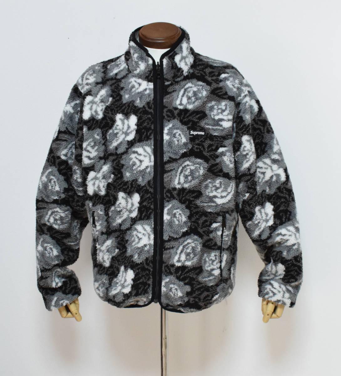 16aw supreme シュプリーム Roses Sherpa Fleece Reversible Jacket ローズシェルパ フリース リバーシブル ジャケット M //