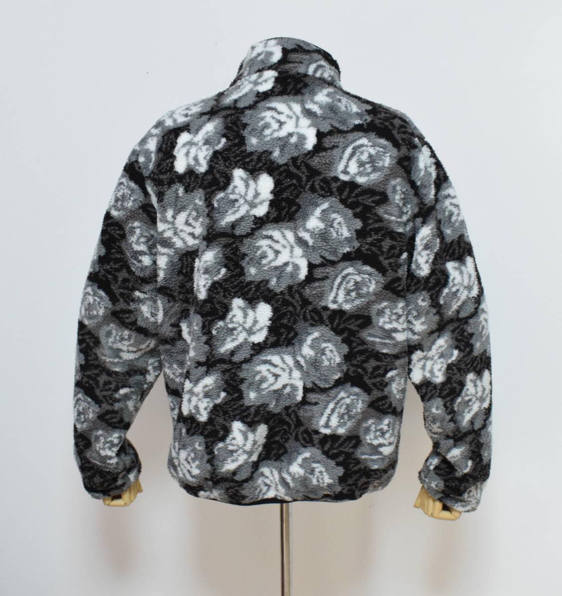16aw supreme シュプリーム Roses Sherpa Fleece Reversible Jacket ローズシェルパ フリース リバーシブル ジャケット M //_画像2